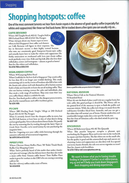 ANZA Coffee Article